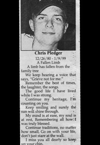 Apologies to Chris and the Pledger Family