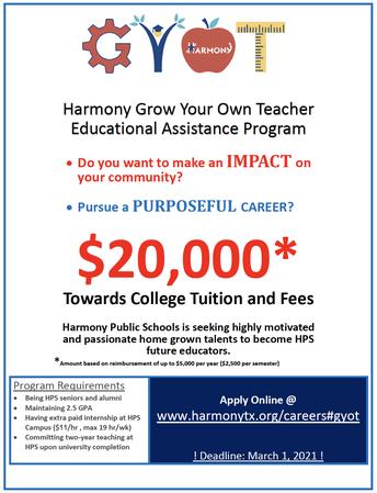 HPS Grow Your Own Teacher Education Assistance Program