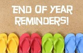Final Reminders