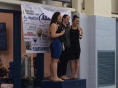 Lauren receives her 3rd place medal!