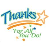 Staff Appreciation - February 25th & 26th