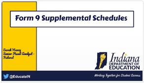 Supplemental Schedules Guidance