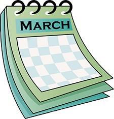 March calendar icon