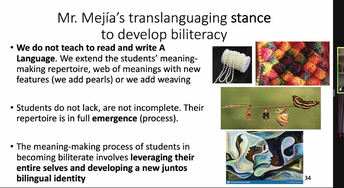 Translanguaging to develop Biliteracy