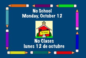 lunes 12 de octubre no hay clases
