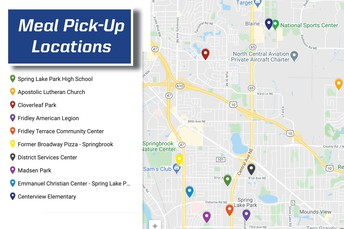 Free meal pick-up and community distribution