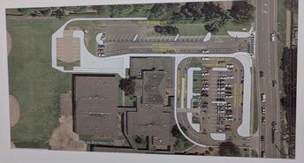 Estacionamiento / autobús y Pick-up / drop-off Area