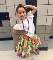 Eily Rodriguez poses in a Puerto Rican dress!