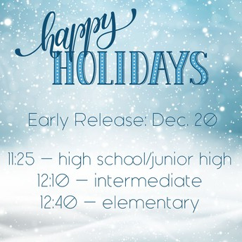 December 20th Early Release