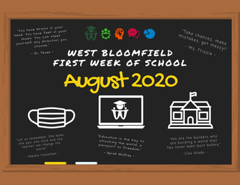 First Week of School Sign - 2020-21