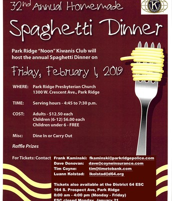 Kiwanis Spaghetti Dinner Flyer