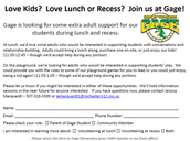 Lunch/Recess Supports!