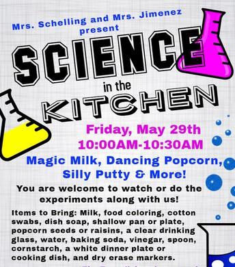 VIRTUAL Community Connections Kitchen Science Workshop!