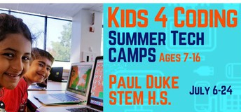 Coming this summer to Paul Duke STEM H.S. - Kids 4 Coding