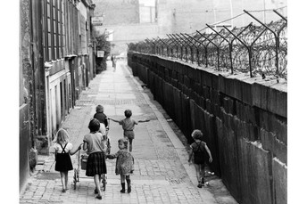 East Germany opens the Berlin Wall