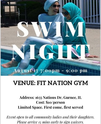 Ladies swim night Organized By WAC