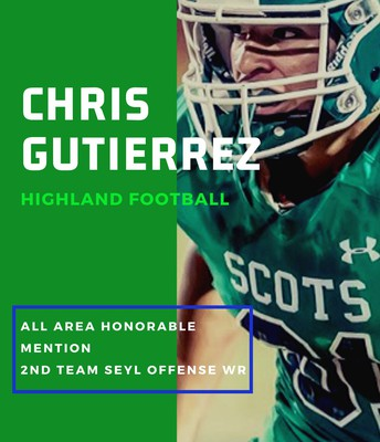Junior Chris Gutierrez