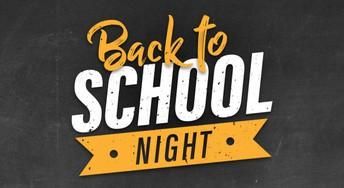 Back to School Night on Thursday, September 24