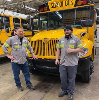 Left to Right: Hank Loos, Maintenance Supervisor and Devin Forcier, Technician