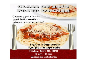 Class of 2019 Pasta Dinner