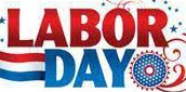 No School in honor of Labor Day