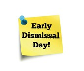 12:30pm dismissal on Monday, October 9, 2017