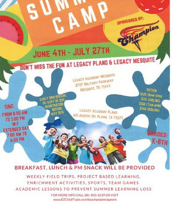 Be A Champion Summer Camp