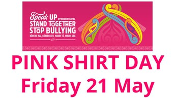 PINK SHIRT DAY - Friday 21 May, gold coin donation (mufti day wearing pink)