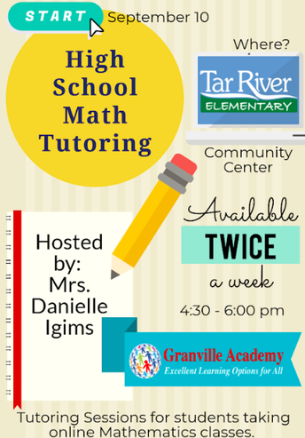 Monday & Thursday: Math Tutoring & Technical Support