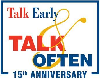 Talk early Talk often logo