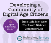 Developing a Community of Digital Citizens