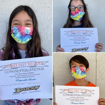 4th Grade Shout Out Award Winners