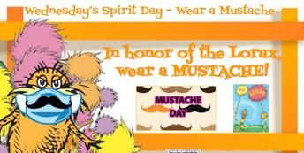 Wednesday- Mustache on Mask