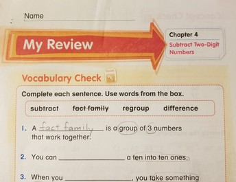 Math: Chapter 4 Review & Reflect