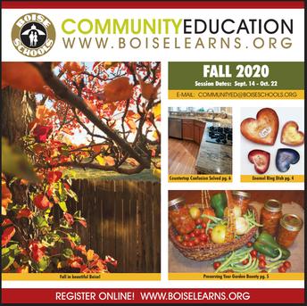 Enroll Now for Fall Community Education