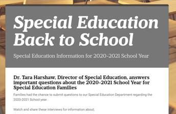Special Education - Back to School Update