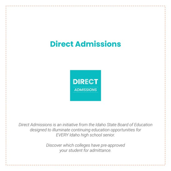 Direct Admissions Letter picture