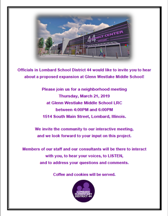 Community Meeting About Proposed Expansion at Glenn Westlake