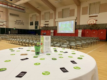 The Kennedy Gym is Set Up Ready to Welcome Parents to Meet RCSD Night