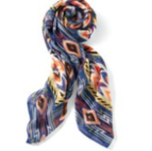 Union Square Scarf-Cobalt/Black Tribal