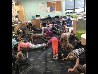 Wellness Wednesday in third grade.