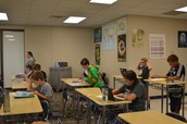 6th Graders Working Independently