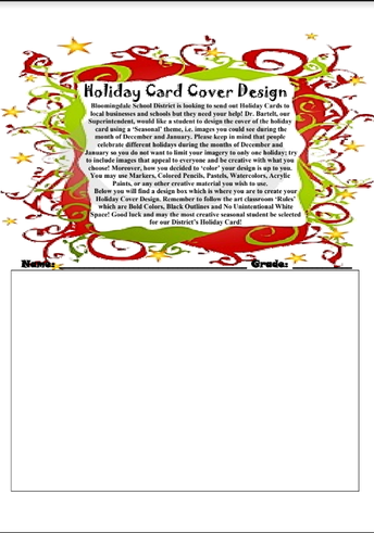 Use Your Markers, Crayons, Pencils, Paints! Enter the District 13 Holiday Card Contest