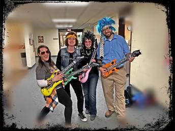 Rock Group visits MES