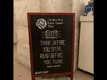 A quote I liked at the NYC Public Library!