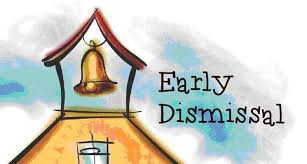 Early dismissal Friday, November 1