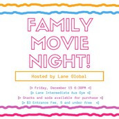 Family Movie Night RESCHEDULED!