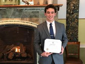Jacob Ciolfi Receives Superintendent's Award for Academic Excellence!