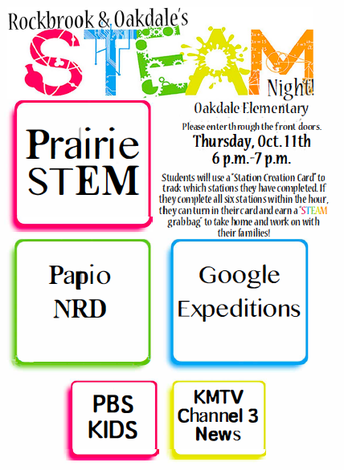 Rockbrook - Oakdale STEAM Night, October 11th