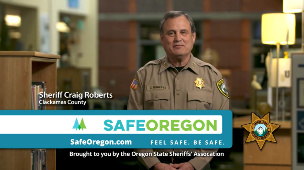 Clackamas County Sheriff Craig Roberts explains the SafeOregon Tip Line.